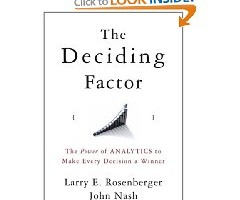 Book Review: The Deciding Factor By Larry Rosenberger and John Nash