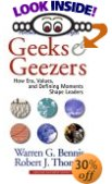 Book Review: Geeks and Geezers by Warren Bennis and Robert Thomas