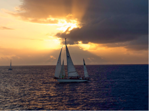 Sailboat Sunset Vacation