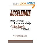 """I have the honor and privilege of knowing and working with the authors of Accelerate. They dedicate their passion and their lives to developing strong leaders throughout the world. They have written a leadership manual that will, I'm sure, find its way onto every true leader's bookshelf. Their first intention in writing the book is for the reader to come to understand how to sustainably expand his/her reach and impact. Perhaps more importantly, one learns how to enroll and enlist other leaders so that the teams they form reach levels of performance and impact not thought possible. Leaders who understand the principles outlined in this book will find whole new levels of self-expression, effectiveness and creativity. The authors first orient the reader, in clear straightforward language, so that the material that follows makes sense logically as well as emotionally. They make a compelling case for understanding that there is no """"normal"""" for business except perhaps unrelenting change. That means new ways of working together, building collaborative teams and replacing the old """"command and control"""" structure with leadership which provides a clear vision and enrolls employees in that vision – then get out of their way! So the essential """"notions"""" of the book are laid out as: Replacing Commands with Vision Finding New Ways of Working Together Building Collaborative Capital Requires Relationship and Confrontation Operating Principles – a Systemic Shift The authors explain why Self-Generated Accountability is key to visionary leadership. They build on nine principles: Be Present, Stay in the Game Listen Newly, Be Intentionally Slow to Understand Take Yourself Lightly Declare There is Nothing Wrong or Broken Here and Now Explore truths: Mine, Theirs and Ours Confront and Deal with Real Issues Be Responsible for Creating Value Make it Safe and Productive Be Responsible for What Gets Heard Here's the rub. Reading the book is nice and you will learn much, but it is made quite cle"""