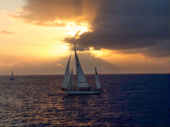 Sailboat Sunset Vacation
