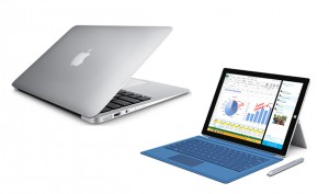 Macbook and Surface Pro