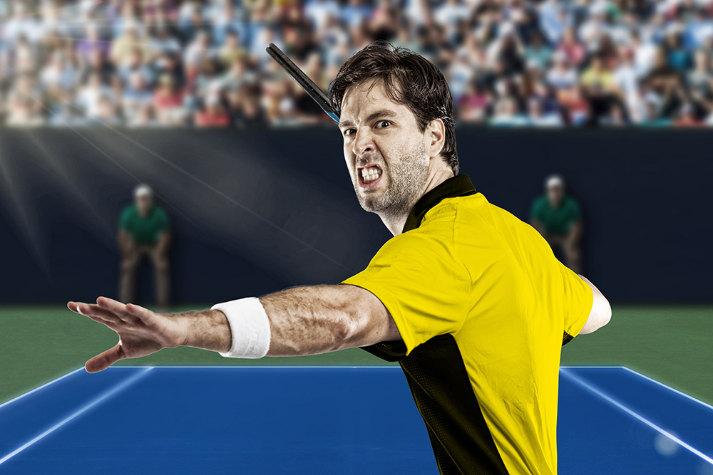 Angry Tennis Match