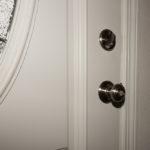 A standard doorknob.